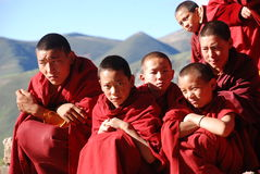 Teenager monks Stock Images