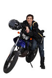 Teenager with motorbike Royalty Free Stock Photos