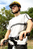 teenager with Mountain bike Stock Photos