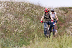 Teenager on the mountain bike Royalty Free Stock Photos