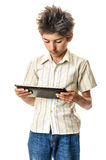 Teenager with multimedia tablet PC Royalty Free Stock Photos