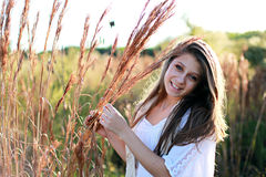 Teenager in nature Stock Images