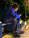 Teenager in the Night Stock Photography