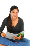 Teenager with Notebook Stock Photo