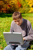 Teenager with notebook Royalty Free Stock Photos