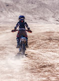 Teenager On A Motorbike Royalty Free Stock Photos