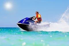 Free Teenager On Jet Ski. Teen Age Boy Water Skiing. Royalty Free Stock Photography - 108542987