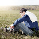 Teenager outdoor Royalty Free Stock Photo