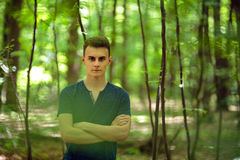 Teenager outdoor in the park Royalty Free Stock Photo