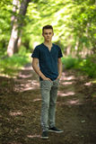 Teenager outdoor in the park Royalty Free Stock Photos