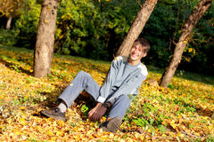 Teenager in the park Stock Photos