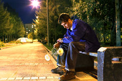 Teenager in the park Stock Images