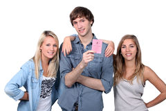 Teenager passed driving license Royalty Free Stock Photo