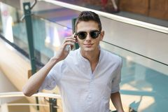 Teenager with the phone Royalty Free Stock Photos
