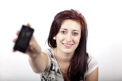 Teenager with a phone Royalty Free Stock Photography