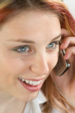 Teenager phoning Stock Images