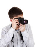Teenager with Photo Camera Stock Image