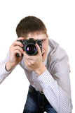 Teenager with Photo Camera Stock Photos