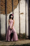 Teenager in pink dress Royalty Free Stock Photo