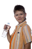 Teenager with plastic bottle Stock Image