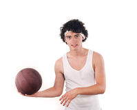 Teenager playing basketball Royalty Free Stock Photo