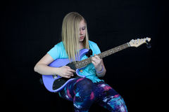 Teenager Playing Guitar Royalty Free Stock Image