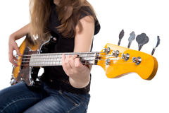 Teenager playing on guitar Stock Photo