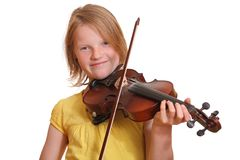 Teenager playing violin Stock Photos