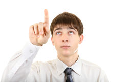 Teenager Pointing Royalty Free Stock Image