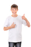 Teenager Pointing at himself Stock Photography