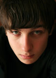 Teenager portrait. Sad teenager portrait close up with focus on eye Royalty Free Stock Images