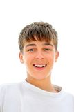 Teenager portrait. Smiling teenager portrait isolated on the white Royalty Free Stock Photo