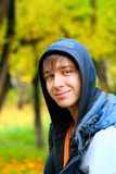 Teenager portrait. In the autumn park Royalty Free Stock Photo