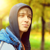 Teenager Portrait in Autumn Royalty Free Stock Photos