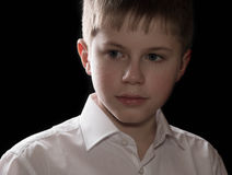 Teenager portrait isolated on black background Stock Image