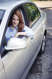 Teenager portrait with new car Royalty Free Stock Photo