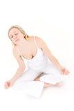 Teenager practicing yoga Royalty Free Stock Photos