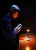Teenager Praying Stock Images