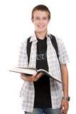 Teenager preparing to school Royalty Free Stock Photo