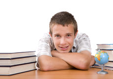 Teenager preparing to school Royalty Free Stock Photo