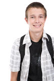 Teenager preparing to school Royalty Free Stock Image