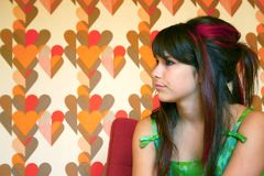 Teenager profile Royalty Free Stock Photography