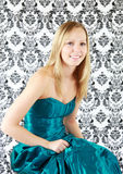 Teenager in prom dress Royalty Free Stock Photography