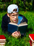 Teenager read a Book Stock Photography