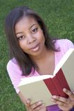 Teenager Reading Royalty Free Stock Photos