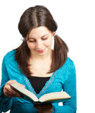 Teenager reading Royalty Free Stock Image