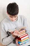 Teenager reads a Books Royalty Free Stock Photography