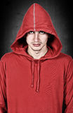 Teenager with red hoodie Royalty Free Stock Images