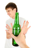Teenager refuse an Alcohol Royalty Free Stock Images