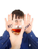 Teenager refuse Alcohol Royalty Free Stock Photos